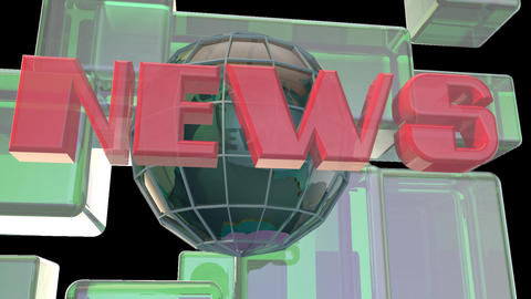 Broadcast news earth globe opening Intro title animation ライブ動画
