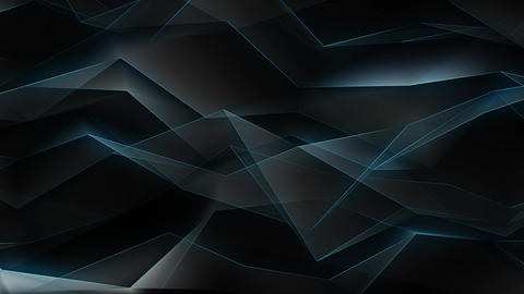 Glowing Lines Polygonal Refraction 4K Animation