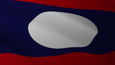 Laos Flag Loop CG動画素材