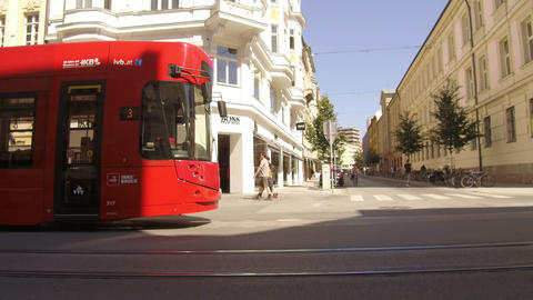 tram and bicycle, Innsbruck Live Action