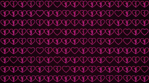 Valentine's Day Abstract Background Live Action
