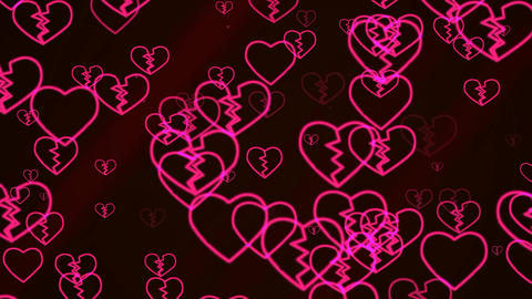 Valentine's Day Abstract Background Footage