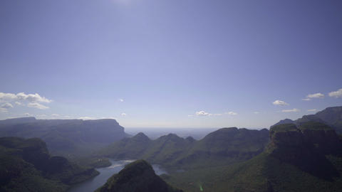The exotic Blyde river canyon Stock Video Footage