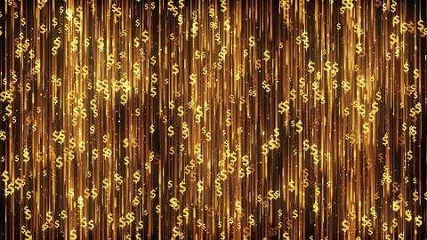 Dollars Gold Background Animation