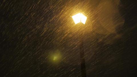 Snow Storm Light Pole Footage
