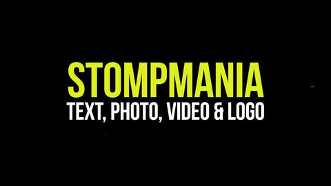 Typographic and Photo Stomp Opener Pack Premiere Pro Template