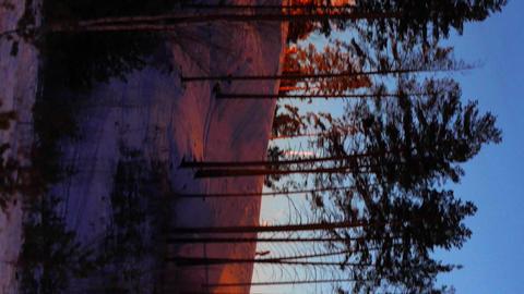 Vertical video. Ski slope against the sky Bild