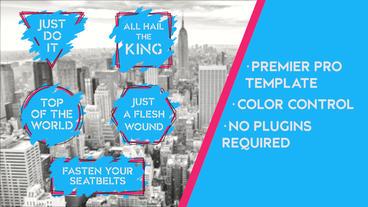 Grunge Ink Titles v2 Premiere Pro Template
