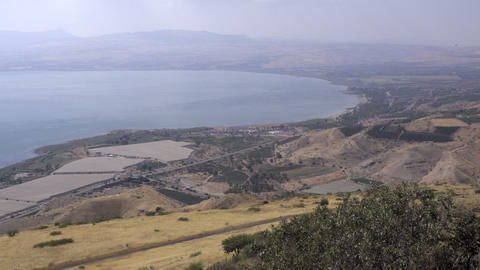 The farmland along the Sea of Galilee Footage