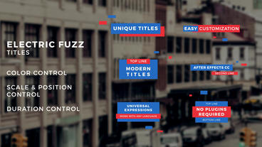 Electric Fuzz Titles After Effects Templates