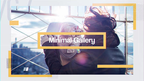 Minimal Gallery After Effects Template