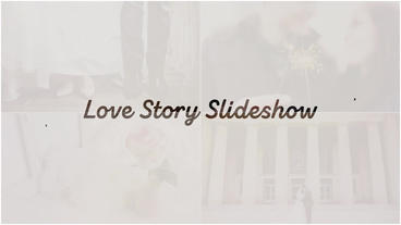 Love Story Slideshow Plantilla de After Effects