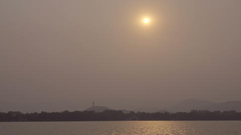 Sun obsured by smog over Summer Palace Live Action