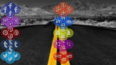 Social Networks Graphic Pack After Effects Template