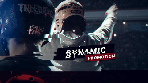 Sports Glitch Promo After Effects Template