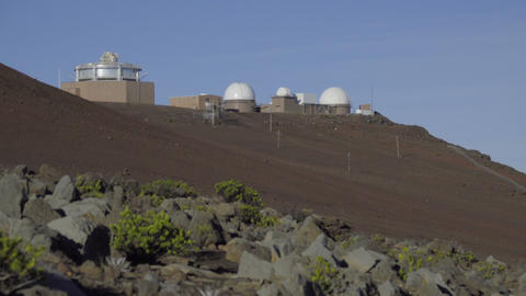 Left pan of the Maui observatory Footage