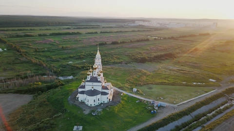 Ekaterinburg. Annunciation Church of the Saints of God's Builders. Academic Footage