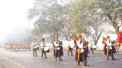 March past of India's armed forces 画像