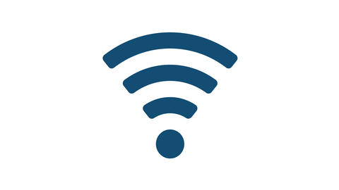 Wireless WiFi Symbol isolated Video Animation Stock Video Footage