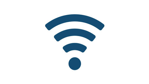 Wireless WiFi Symbol isolated Video Animation Animación