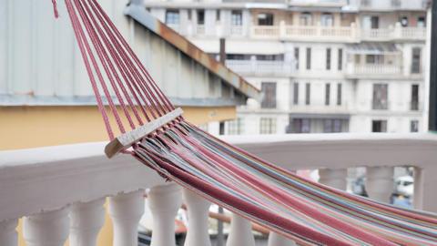 Hammock on the terrace of the hotel - Georgia 영상물