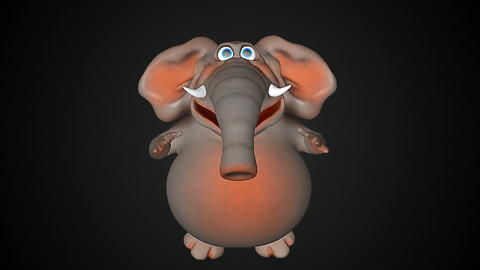 Fun elephant. Computer graphic フォト