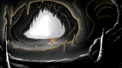 Little old lady in a cave Animation