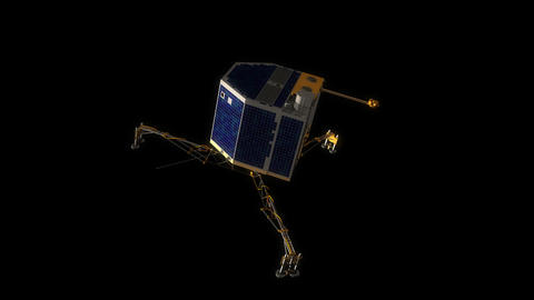 Comet lander, spacecraft, research laboratory Animation