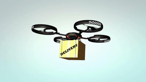 Drone delivery, new technology Animation