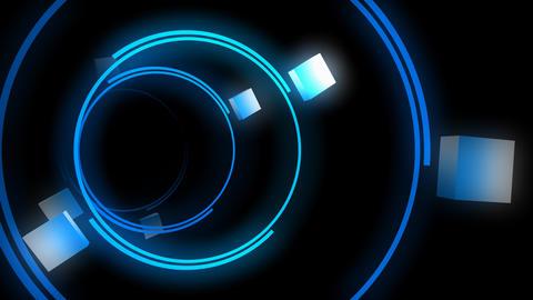 Neon light, tunnel animation Stock Video Footage