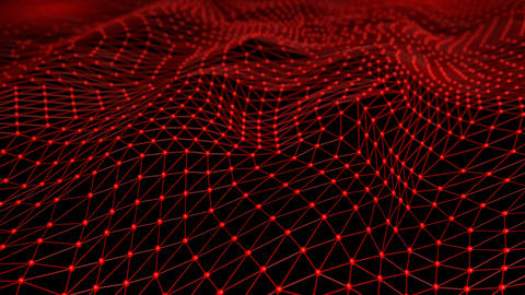 Molecule fabric, atomic thin layer, nodes and network, Stock Animation