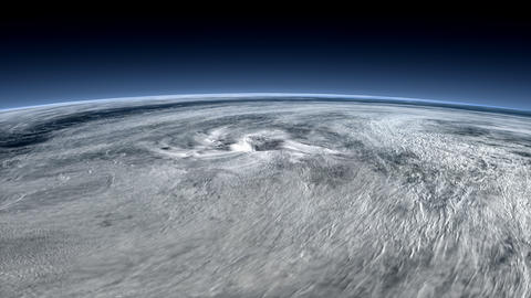 Satellite captured, typhoon view from space Animation
