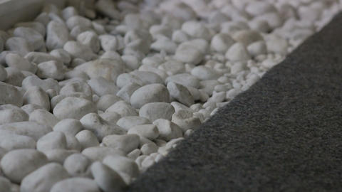 White Pebbles close up Footage