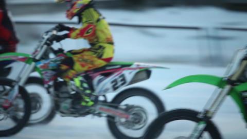 race winter motocross Footage