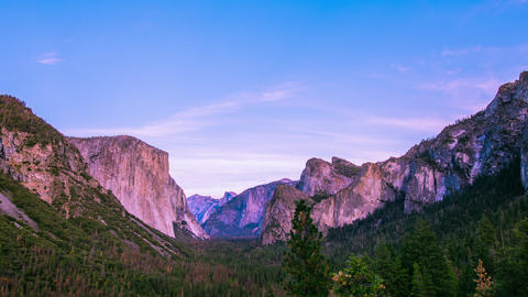 Time Lapse - Clouds Moving Over Yosemite Valley - 4K Footage