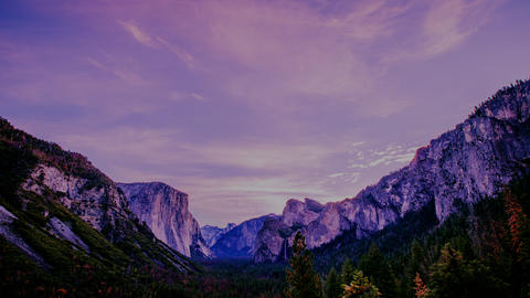 Time Lapse -Beautifl Dawn Cloudscape at Yosemite Valley - 4K Footage