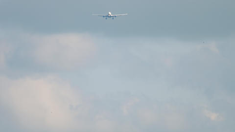 Widebody aircraft approaching Live Action