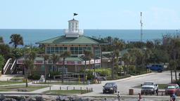 USA Florida Port Canaveral restaurant Fishlips Pavilion at Jetty Park and beach Footage