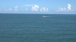 USA Florida Port Canaveral the open sea of Atlantic after leaving the docks Footage