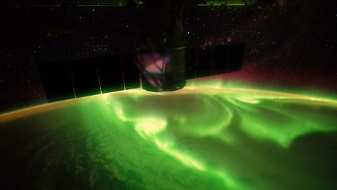 Australian Southern Lights seen from space - ISS Image