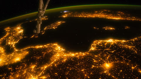 Southern Europe seen from space - ISS Footage