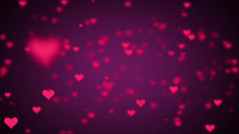 Valentines Day Hearts Flying. Background Looped video 2 Animation