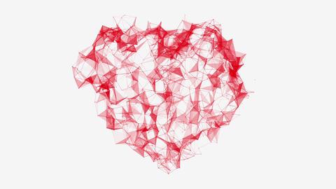 Valentine's Day Heart Pulsing with Plexus Effect Bild