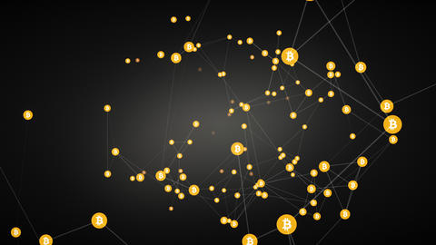 bitcoin mining background Animation