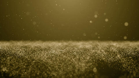 Particles gold bokeh glitter awards dust abstract background loop Image