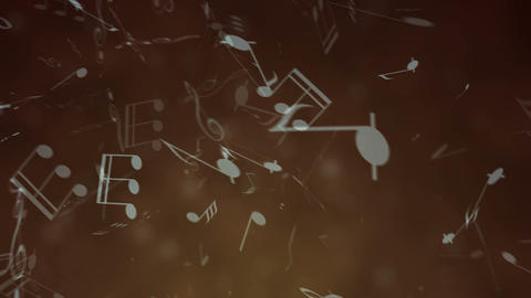 Flying Music Notes Background 영상물