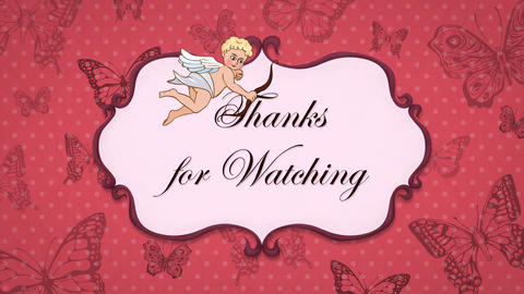 Thanks for watching - Vintage Opener with Cupid 애니메이션