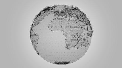 Digital Earth Rotating Animation