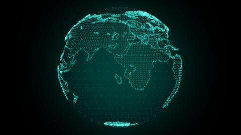 Digital Earth Rotating Green GIF