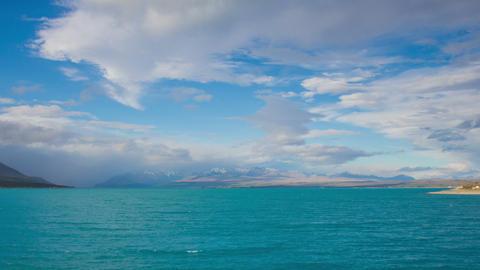 Time Lapse - Cloudscape of Lake Pukaki, New Zealand Footage